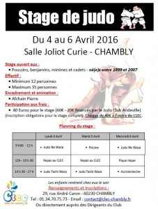 Stage Chambly 04-2016