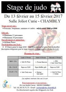 stage Chambly 02-2017